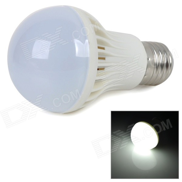 E27 5W 420lm 6000K White Light 5730 SMD LED Bulb - White + Silver (AC 220~240V)