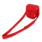 Dulisimai Y8 Canvas Shoulder Bag for Small Digital Cameras - Red + Orange (S)