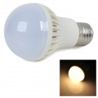 E27 4W 350lm 2700K Warm White Light 5730 SMD LED Bulb - White + Silver (AC 220~240V)