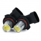JR-LED 9006 3W 300lm 8000K Frio Branco COB LED Carro Fog Foglight (DC 12V / 2PCS)