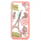 """Eiffel Towel Pattern ABS Back / Bumper Frame Case for IPHONE 6 4.7"""" - Pink + White"""