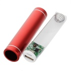 DIY 1*18650 Li-ion Battery USB Charger Power Bank Case w/ LED - Red