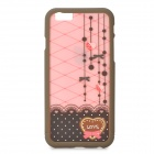 "Lace Pattern ABS Back / Puskurin Frame Case for iPhone 6 4,7 ""- Pink + Ruskea"