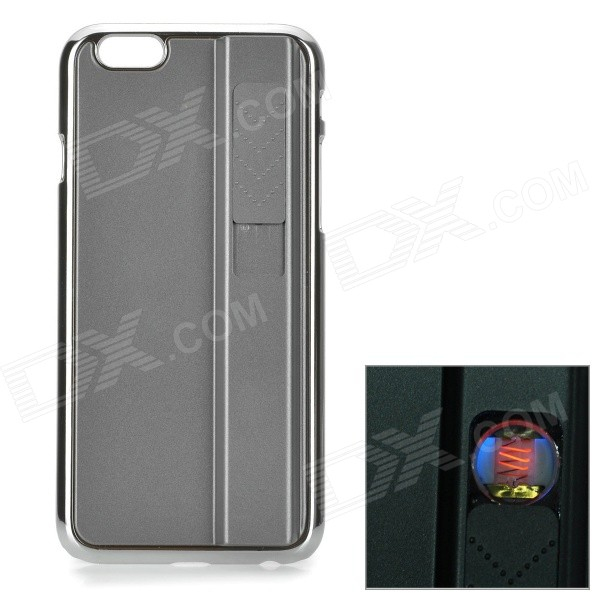 """Фото Rechargeable Electric Lighter Aluminum Alloy Back Case for IPHONE 6 4.7"""" - Grey"""