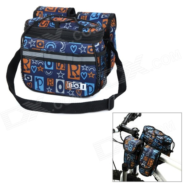Фото - BOI 12901-1 Personalized Cycling Bike Top Tube Saddle Bag / Messenger Shoulder Bag - Black + Blue micro camera compact telephoto camera bag black olive