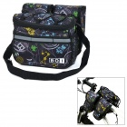 BOI 12901-2 Personalized Cycling Bike Top Tube Saddle Bag / Messenger Shoulder Bag - Black + Yellow