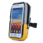 Yanho YA-08 Quick-Release Touch-Screen Bike Handlebar Case Bag for Cellphone GPS - Yellow + Grey
