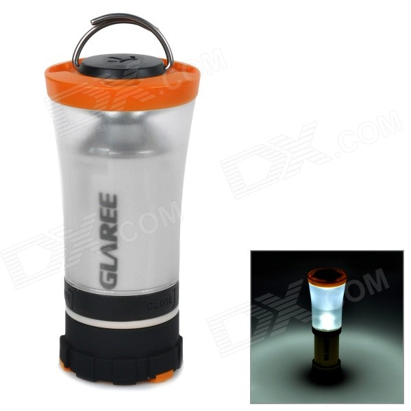 GLAREE C3 105lm LED Cool White Light Portable Outdoor Camping Lantern Lamp - Orange (4 x AA)