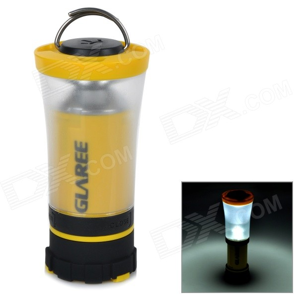 GLAREE C3 105lm LED Warm White Light Portable Outdoor Camping Lantern Lamp - Yellow (4 x AA)
