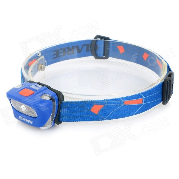 GLAREE L55I 165lm 5-Mode Warm White LED Headlamp - Blue + Orange + Black (3 x AAA)Headlamps<br>L55I is a sports headlamp with lightweight and superpower; With cool and fashionable appearance and strong performance; Reflective LOGO design in the new ribbon makes the night movements safer and cool; Lightweight structure design makes the net weight of head lamp only 50 grams which can reduce your burden for outdoor activities; With CREE 3W light source in L55I lumens light intensity can reach 165lm in highlighting condition; Three AAA batteries ensures enough brightness and battery life; It is also equipped with low battery indicator light red SOS and fast strobe warning which provides you with safe lighting outdoors<br>