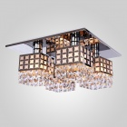 WG-1556 E27 Base Holder 4-Light Crystal Ceiling Lamp - White + Silvery Grey