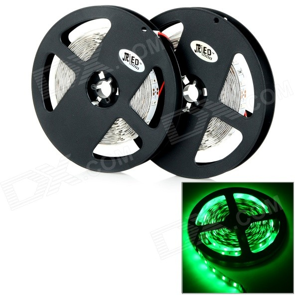 JRLED 144W 8000lm 530nm 300 SMD 5730 tiras de LED verde claro - Black + White (2 PCS / 5M / DC 12V)