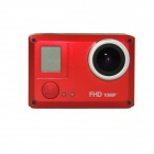 "Amkov SJ5000 20.0MP 2/3"" CMOS 1080P Full HD Wi-Fi Outdoor Sports Digital Video Camera - Red + Black"