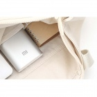 XIAOMI Genuine 16000mAh Dual USB Mobile Li-ion Power Bank w/ 4-LED Indicators - Silver + White