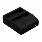 Dual-Slot Battery Charger for GoPro Hero 4 AHDBT-401 Battery - Black
