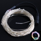 10W 100-LED Five Color Light Christmas Flash Light Strip - White (DC 12V / 10m)