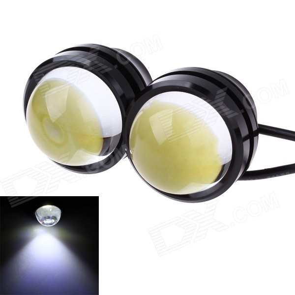3W 800ml 6000K White Flash COB LED Car Fog Light Daytime Running Lamp - Black + Transparent(2 PCS) 2012 2013 2014 2015 2016year antara day lamp led free ship 2pcs car detector antara fog lamp car covers antara