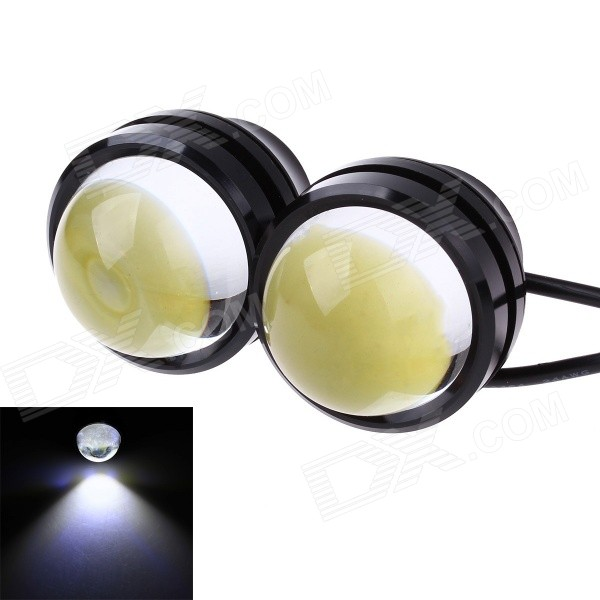3W 800ml 6000K White COB LED Car Fog Light Daytime Running Lamp - Black + Transparent(2 PCS) 2012 2013 2014 2015 2016year antara day lamp led free ship 2pcs car detector antara fog lamp car covers antara