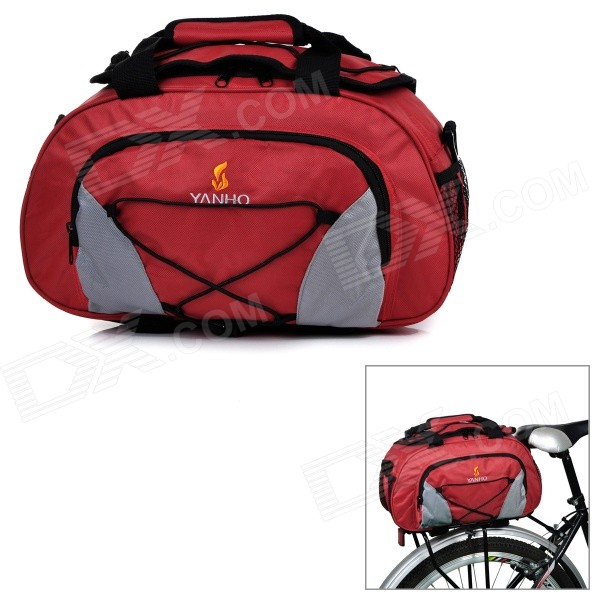 Yanho YA077 Large-Capacity Bike Bicycle Rear Rack Seat Pannier Bag / Handbag / Shoulder Bag - Red mountain bike rear bag bike tail box cycling carry bag bicycle shell quick release rear seat pannier rack bag