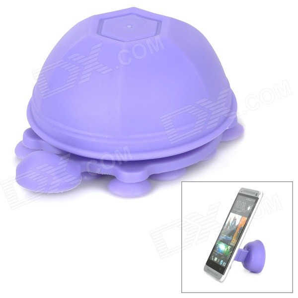 все цены на Unique Turtle Style 2-in-1 Universal Stand / Cable Management for Cell Phone / Tablet - Purple онлайн