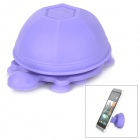 Unique Turtle Style 2-in-1 Universal Stand / Cable Management for Cell Phone / Tablet - Purple