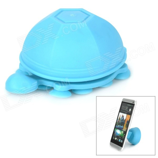 Unique Turtle Style 2-in-1 Universal Stand / Cable Management for Cell Phone / Tablet - Blue universal 2 in 1 clip lens kit for cell phone tablet blue