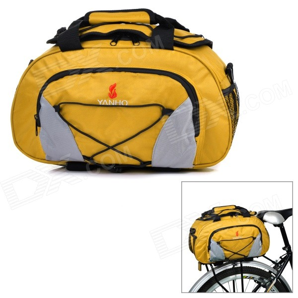 Yanho YA077 Large-Capacity Bike Bicycle Rear Rack Seat Pannier Bag / Handbag / Shoulder Bag - Yellow mountain bike rear bag bike tail box cycling carry bag bicycle shell quick release rear seat pannier rack bag
