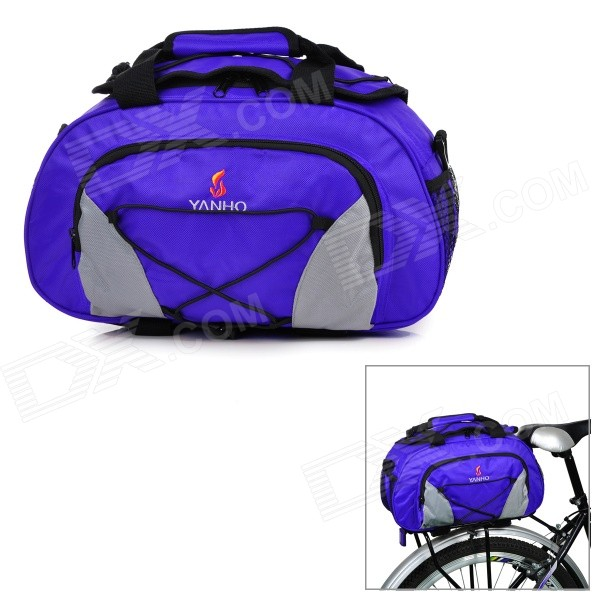 Yanho YA077 Large-Capacity Bike Bicycle Rear Rack Seat Pannier Bag / Handbag / Shoulder Bag - Blue mountain bike rear bag bike tail box cycling carry bag bicycle shell quick release rear seat pannier rack bag