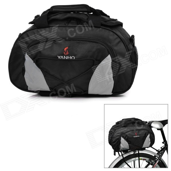 Yanho YA077 Large-Capacity Bike Bicycle Rear Rack Seat Pannier Bag / Handbag / Shoulder Bag - Black mountain bike rear bag bike tail box cycling carry bag bicycle shell quick release rear seat pannier rack bag