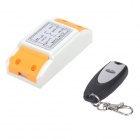 ZnDiy-BRY ZBYB10 220V 1CH Remote Control Switch + 1-Button Wireless Remote Control - White + Black