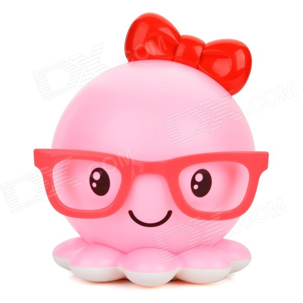 Creative Octopus Style USB Rechargeable LED Table Lamp - Pink