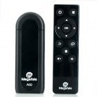 Megafeis A60 Google Android 4.2.2 Quad Core USB Bluetooth Mini PC Smart TV Dongle w/ Wi-Fi - Black