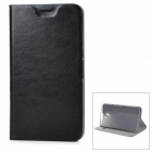 Protective Flip-Open PU + TPU + Manganese Steel Case w/ Stand / Card Slot for Google Nexus 6 - Black