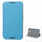 Protective Flip-Open PU + PC Case Cover w/ Stand / Suction Cup Closure for Google Nexus 6 - Blue