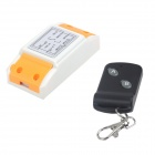 ZnDiy-BRY ZBYB13 220V 1CH Remote Control Switch + Butterfly Dual-Key Remote Control - White + Black