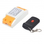 ZnDiy-BRY ZBYB14 220V 1CH Remote Control Switch + 1-Key Wireless Remote Control - White + Black