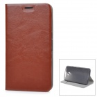 Protective Flip-Open PU + TPU + Manganese Steel Case w/ Stand / Card Slot for Google Nexus 6 - Brown