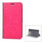 Protective Flip-Open PU + TPU + Manganese Steel Case w/ Stand / Card Slot for Google Nexus 6 - Red