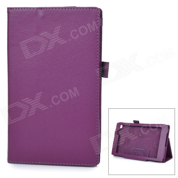 Protective PU Smart Case w/ Stand for Asus MeMOPAD7 / ME572CL - Purple