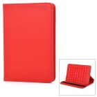 Universal Protective Flip-Open Suction-Cup PU Case Cover w/ Auto Sleep / Stand for Tablet PC - Red