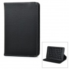 Universal Protective Flip-Open Suction-Cup PU Case Cover w/ Auto Sleep / Stand for Tablet PC - Black