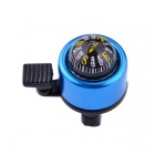 Bicycle Mounted Bell With Compass - Blue + Black