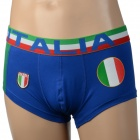 Italy National Flag U Convex Design Men's Football Underpants - Blue (Size XL)