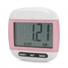 M-867 Clip-on Pedometer with 3D Body Fat Analyzer - Pink