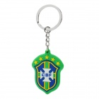 World Cup Souvenir CBF Brazil National Team Emblem Keychain - Green + Blue + White
