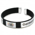 2014 World Cup Germany Football Fans Thread Embroidery Bracelet - Black