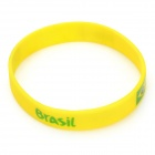 2014 World Cup Brazil Football Fans Silicone Bracelet - Yellow (1 PCS)
