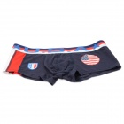 U.S.A National Flag U Convex Design Men's Football Underpants - Deep Blue (Size M)
