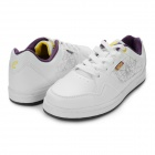 Women's Casual Lace-up Sneakers Jogging Shoes - White + Purple (Size 6.5 / Pair)