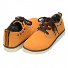 Men's Fashionable Lace-up  Casual Shoes - Yellow (Pair / Size 7.5)